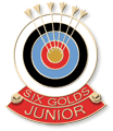 Six Gold End Badge